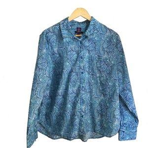 Liberty of London blue and white shirt, size XL
